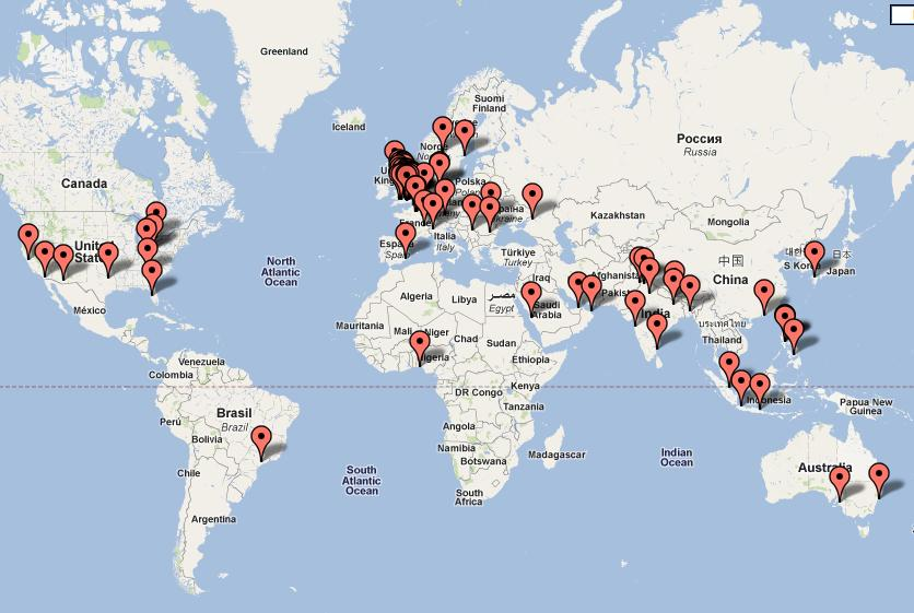 This is my visitors' map