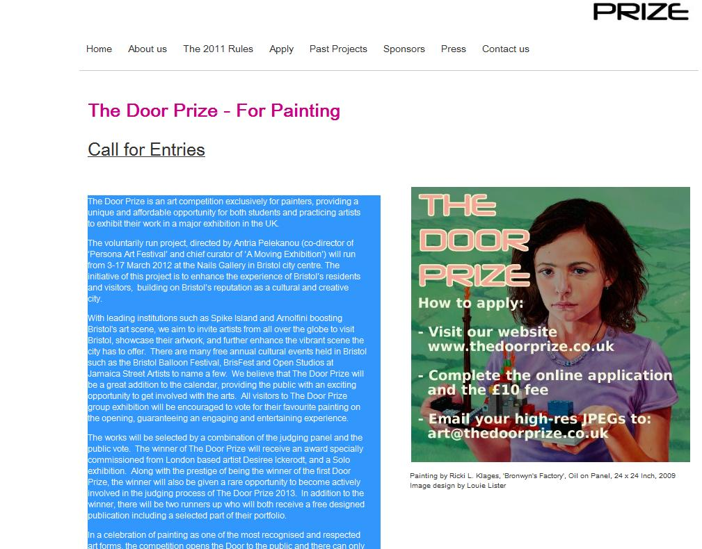 The Door Prize – For Painting