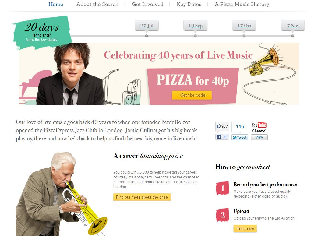 Pizza Express looks for musical talent