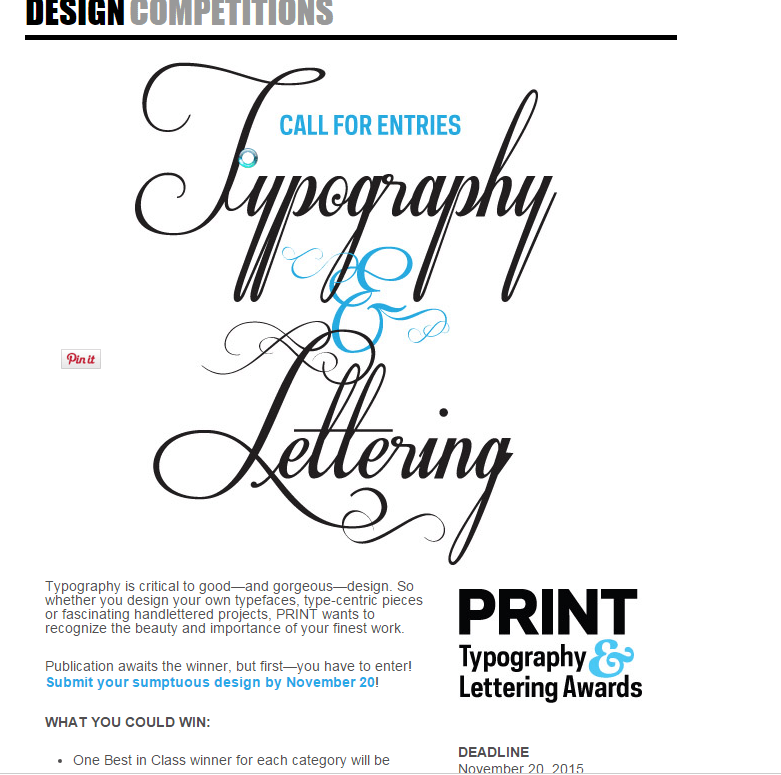 Typography Competition Exclusively for Type and Handlettering‏
