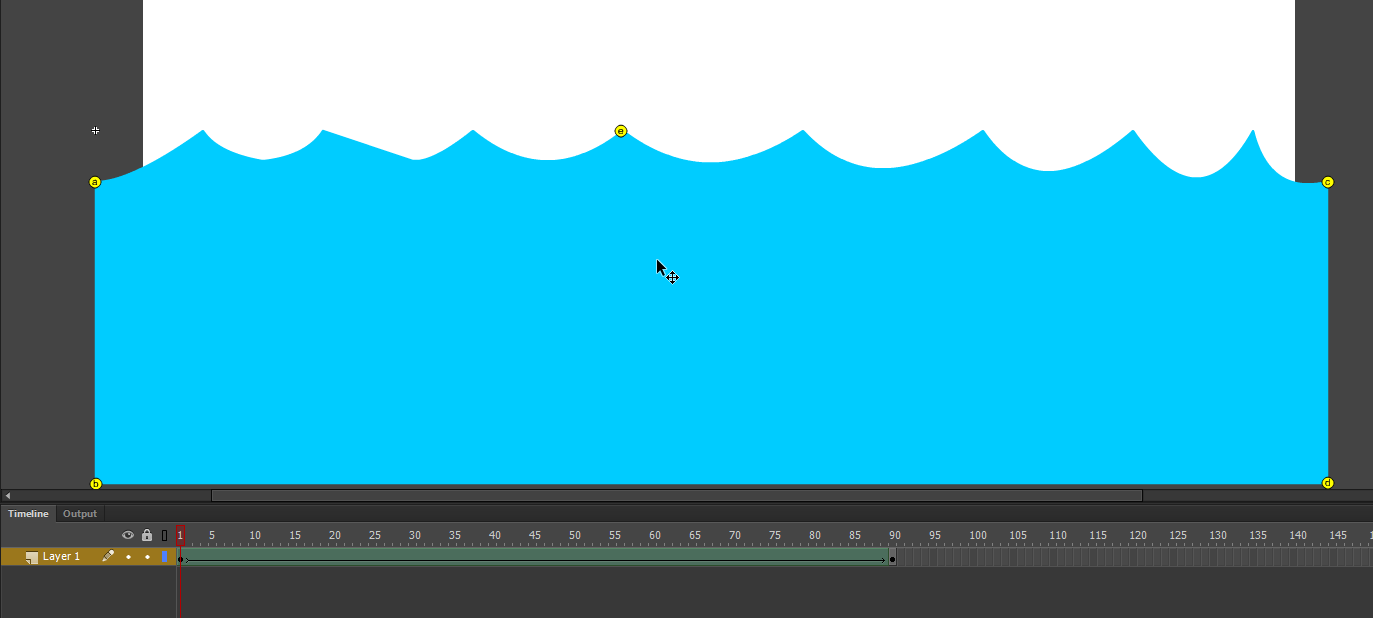 Animation Techniques in Flash waves Level 3 Graphics,