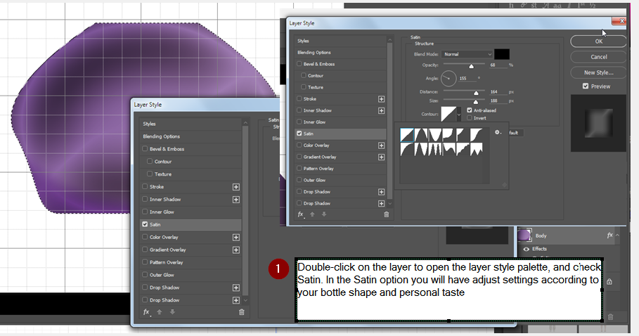 """Extension exercise for  """"Illustrator and Photoshop"""" bottle tutorial,"""
