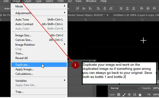 Illustrator and Photoshop bottle tutorial,