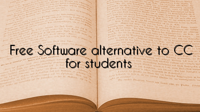 Free Software alternative to CC for students