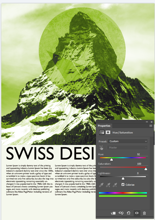 Introduction to Swiss Design Style Photoshop Workshop,