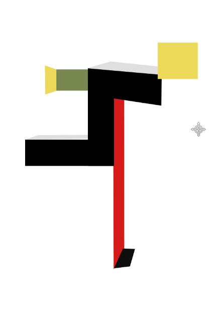 Simple Bauhaus Poster Using Rectangle Tool