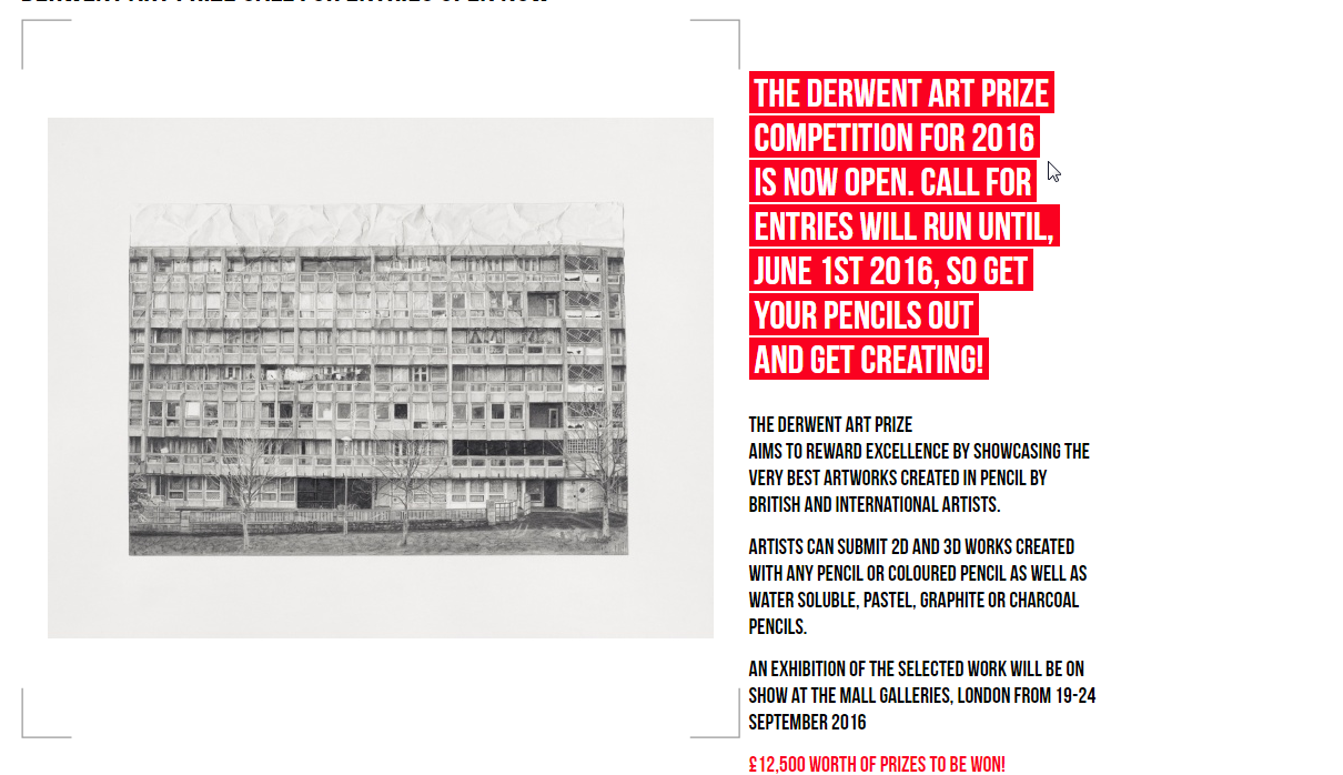 The Derwent Art Prize 2016 Competition,
