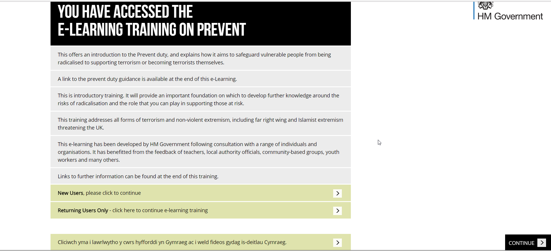 Prevent training and class resources for educators